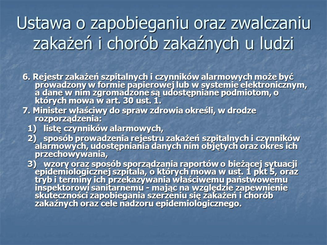 Ustawa o zapobieganiu oraz zwalczaniu zakażeń i chorób zakaźnych u ludzi
