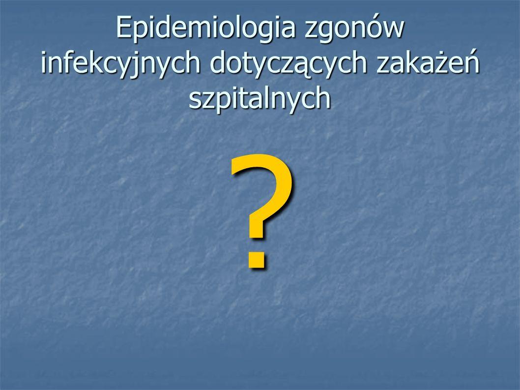 Epidemiologia zgonów infekcyjnych dotyczących zakażeń szpitalnych