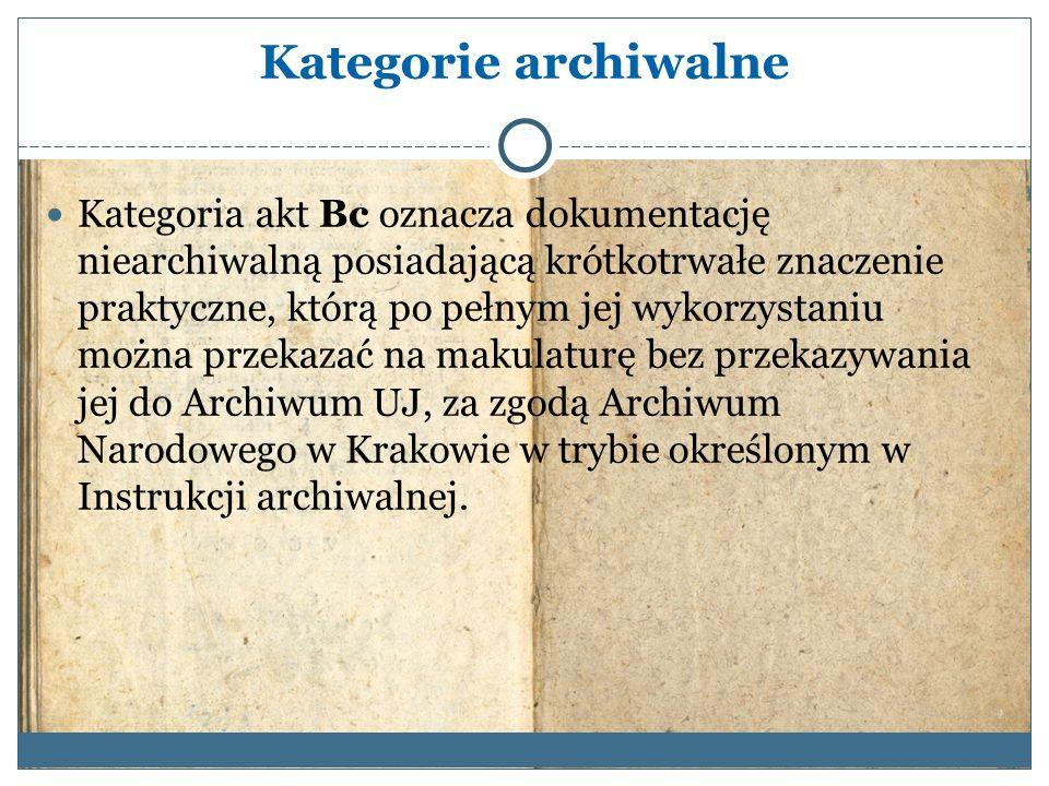 Kategorie archiwalne