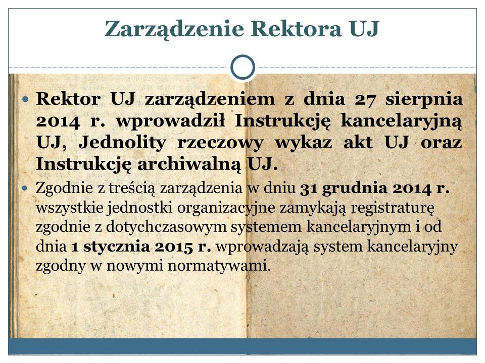 Zarządzenie Rektora UJ