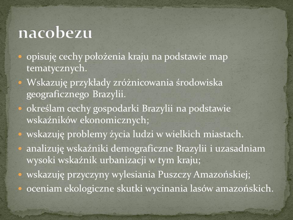 nacobezu opisuję cechy położenia kraju na podstawie map tematycznych.