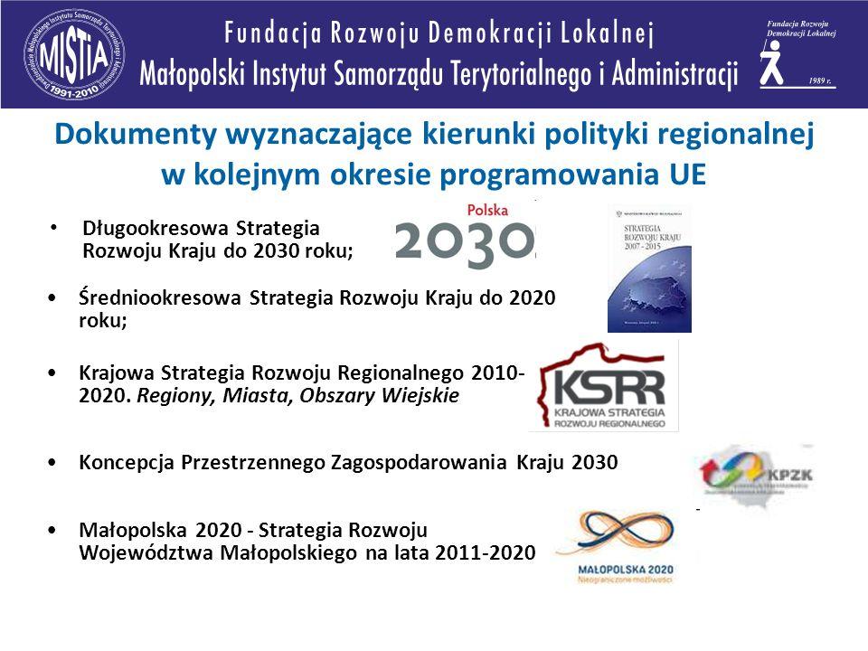 Dokumenty wyznaczające kierunki polityki regionalnej w kolejnym okresie programowania UE