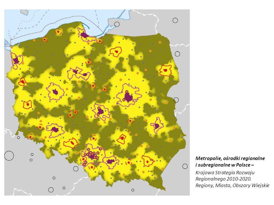 Metropolie, ośrodki regionalne i subregionalne w Polsce –