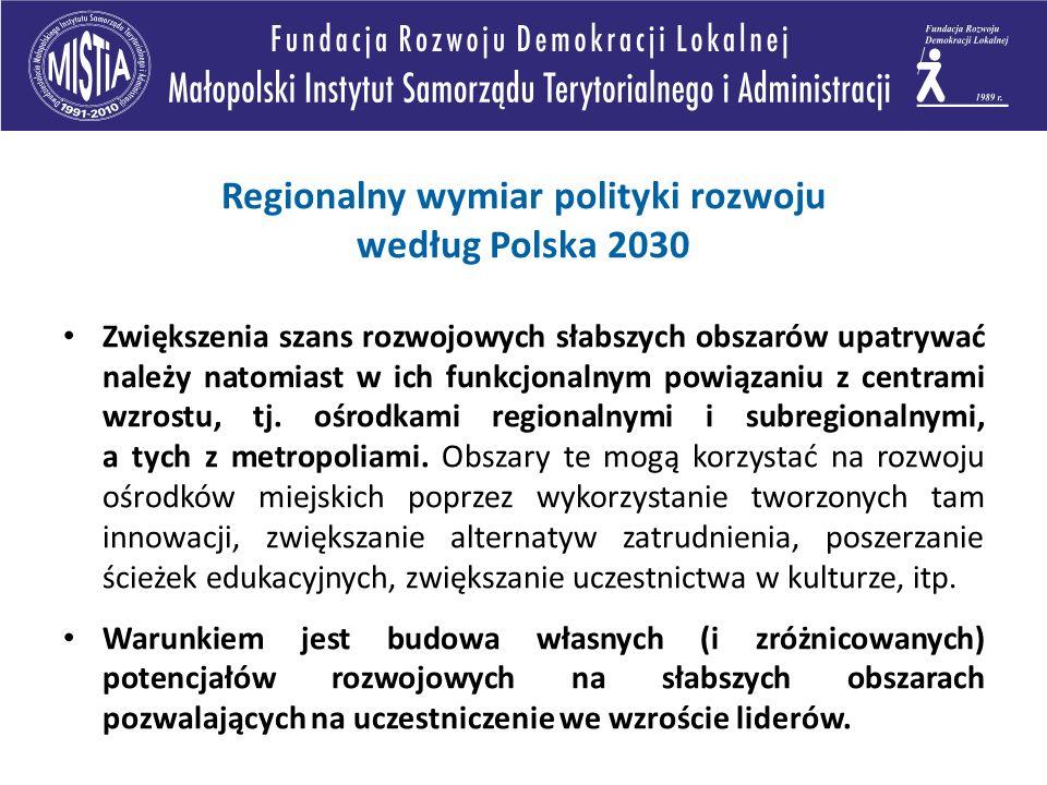 Regionalny wymiar polityki rozwoju według Polska 2030