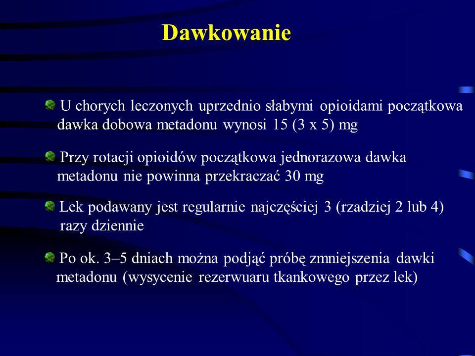 Dawkowanie U chorych leczonych uprzednio słabymi opioidami początkowa