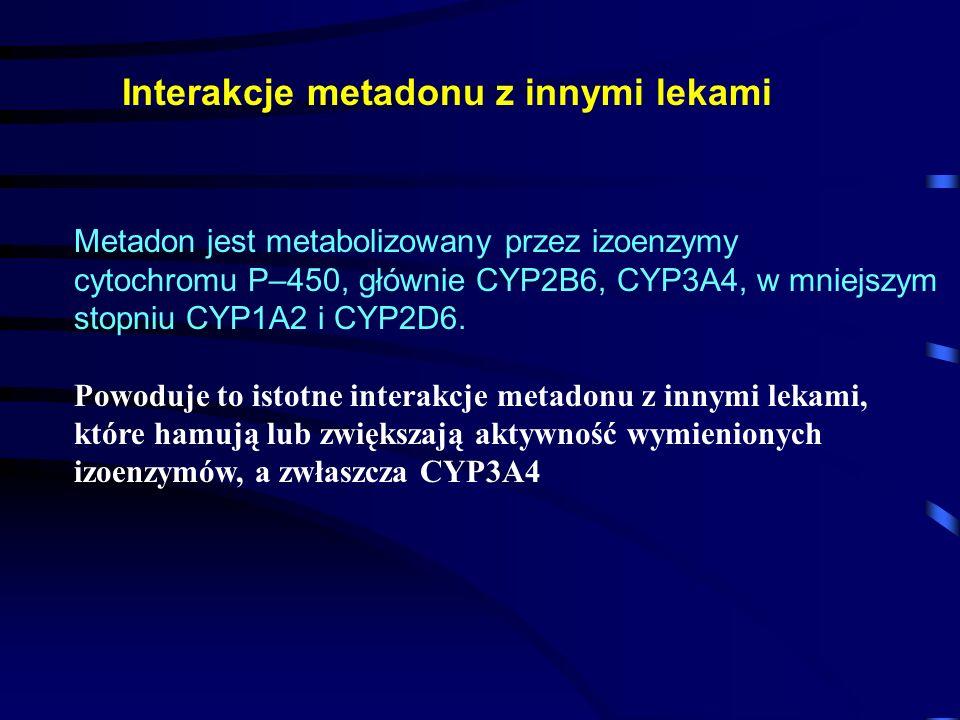 Interakcje metadonu z innymi lekami