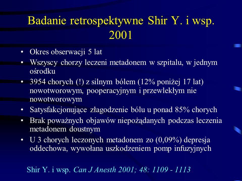 Badanie retrospektywne Shir Y. i wsp. 2001
