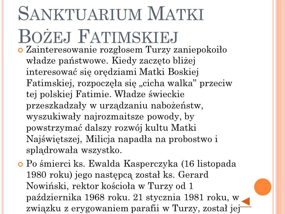 Turza Śląska - Sanktuarium Matki Bożej Fatimskiej