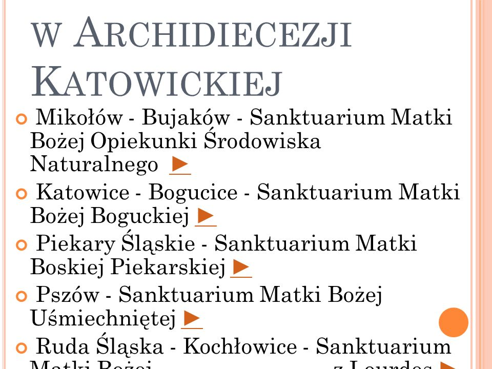Sanktuaria Maryjne w Archidiecezji Katowickiej