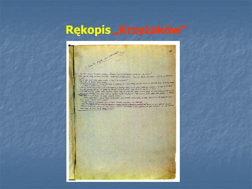 """Rękopis """"Krzyżaków"""