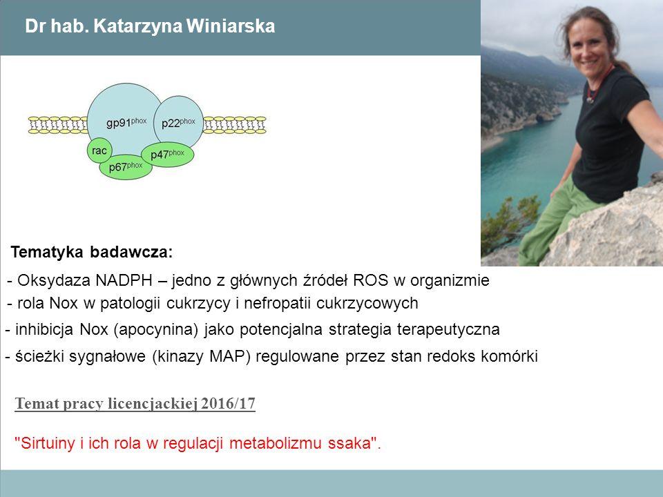 Dr hab. Katarzyna Winiarska