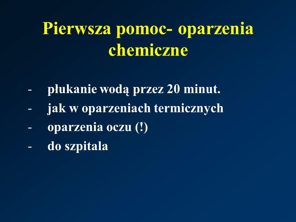 Pierwsza pomoc- oparzenia chemiczne