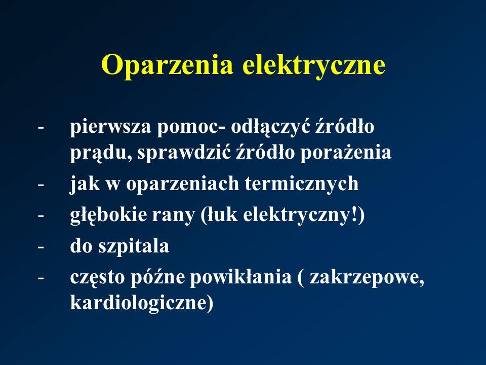Oparzenia elektryczne