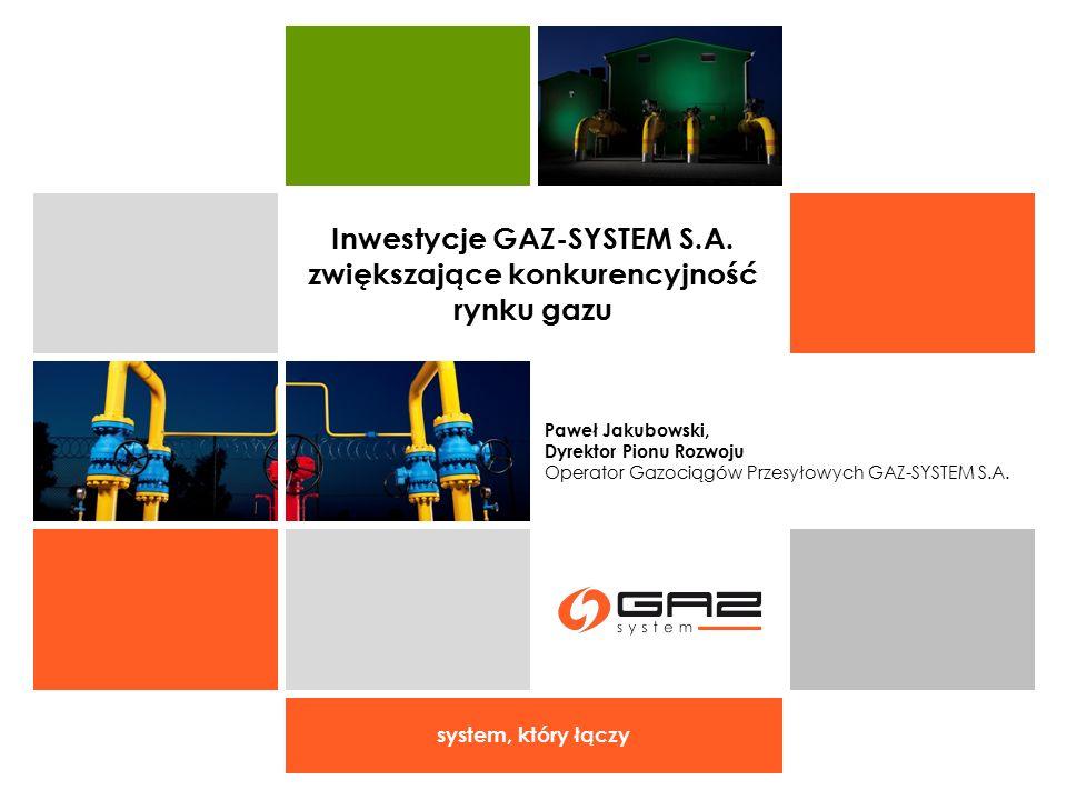 Inwestycje GAZ-SYSTEM S.A. zwiększające konkurencyjność rynku gazu