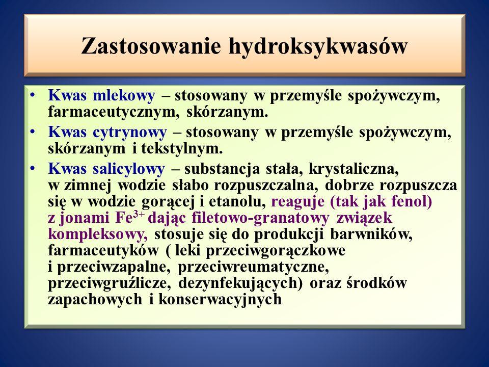 Zastosowanie hydroksykwasów