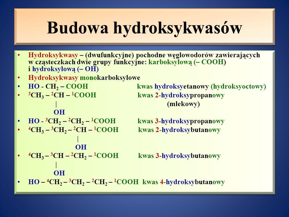 Budowa hydroksykwasów