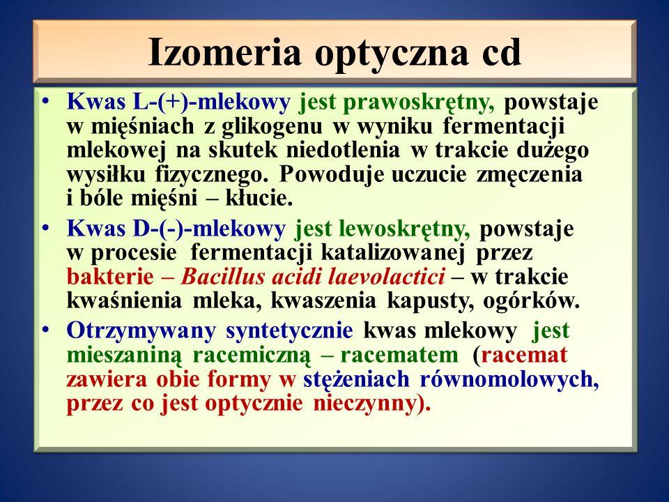 Izomeria optyczna cd