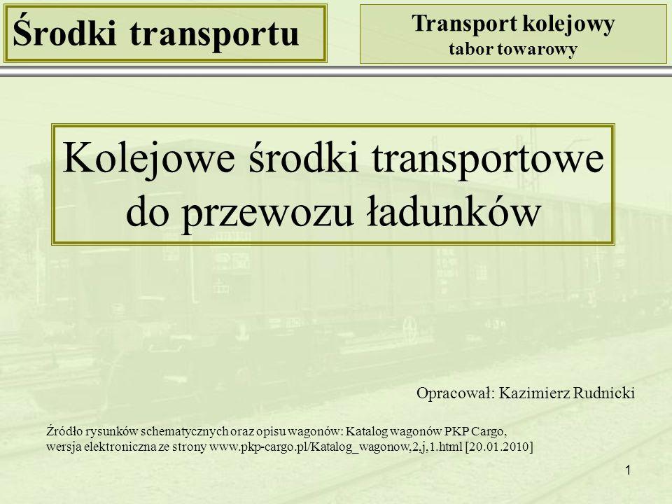 Kolejowe środki transportowe