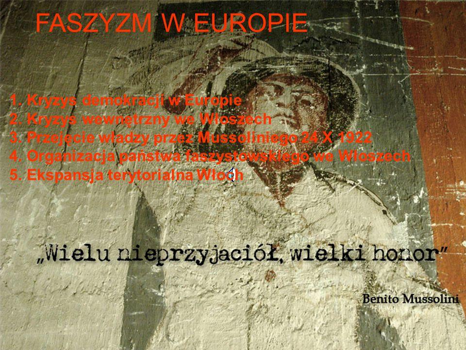 FASZYZM W EUROPIE Kryzys demokracji w Europie