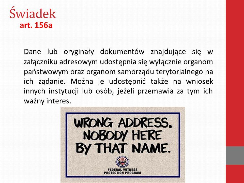 Świadek art. 156a.