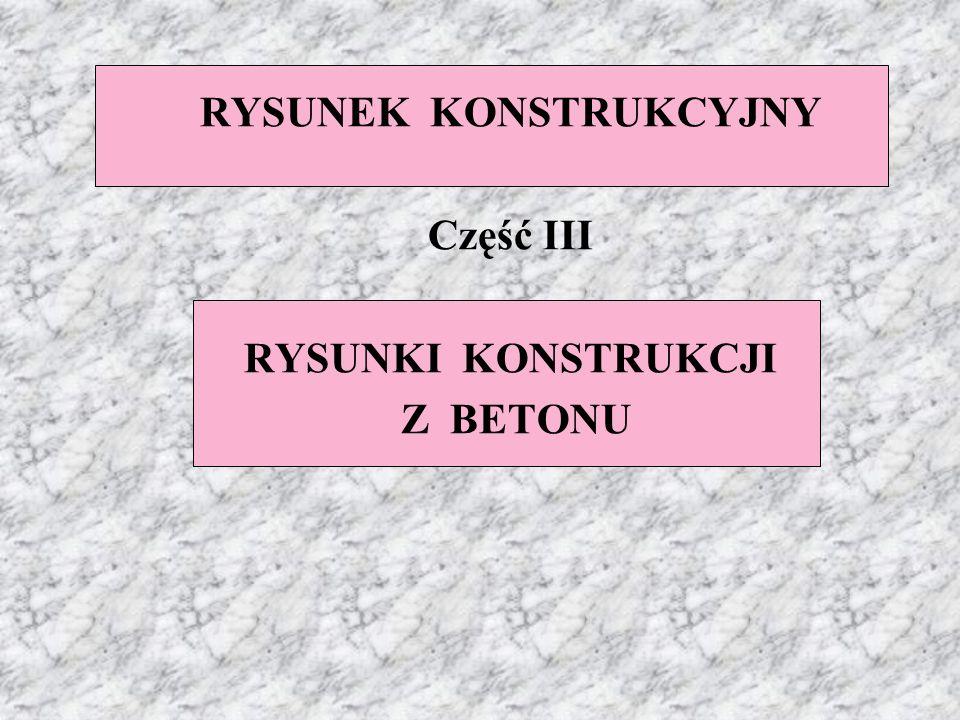 RYSUNEK KONSTRUKCYJNY Część III RYSUNKI KONSTRUKCJI Z BETONU