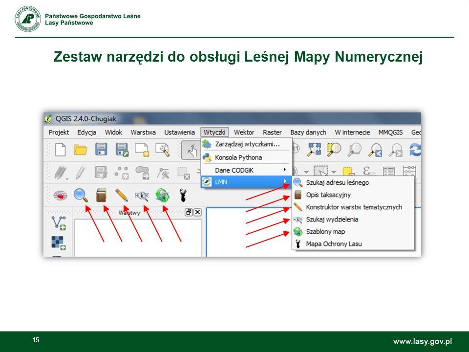 Zestaw narzędzi do obsługi Leśnej Mapy Numerycznej