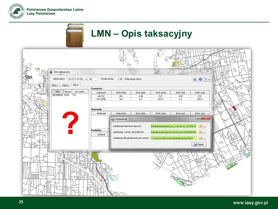 LMN – Opis taksacyjny