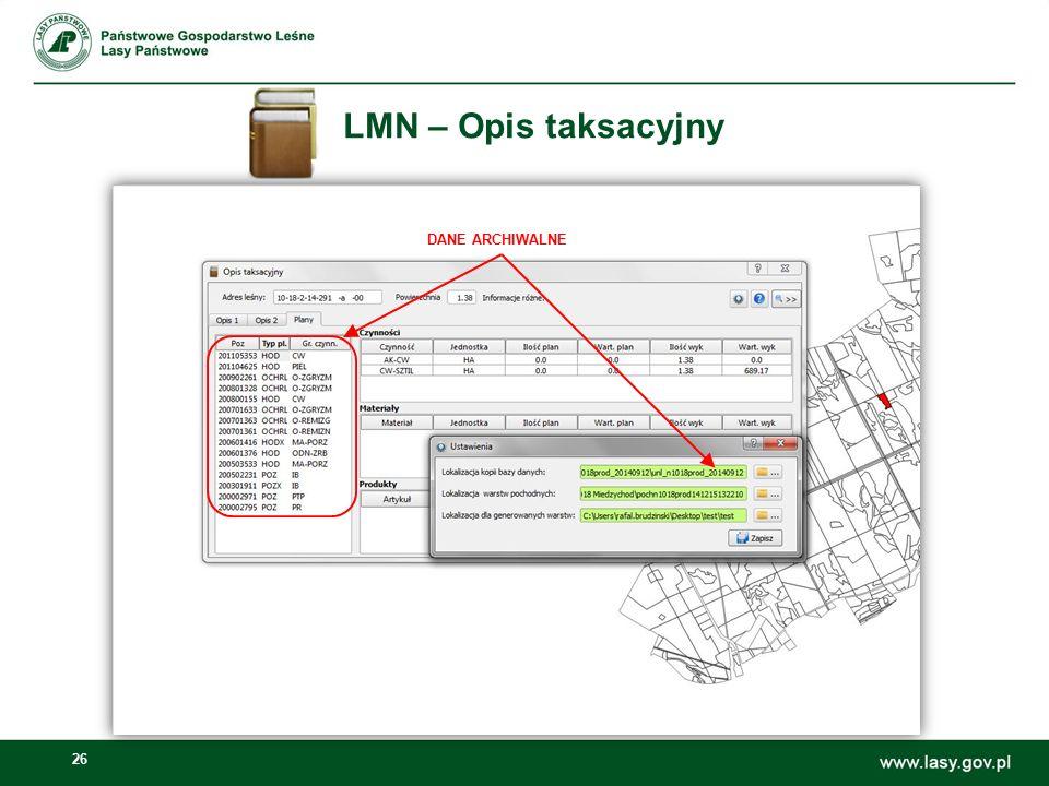 LMN – Opis taksacyjny DANE ARCHIWALNE