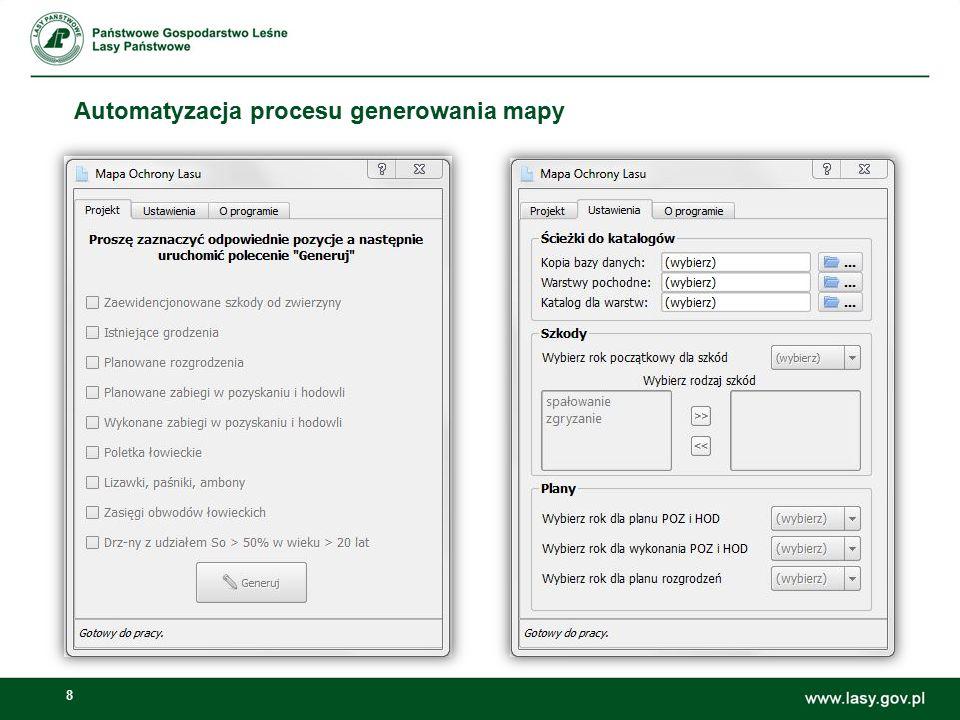 Automatyzacja procesu generowania mapy
