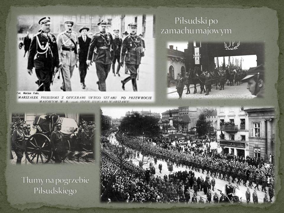 Tłumy na pogrzebie Piłsudskiego