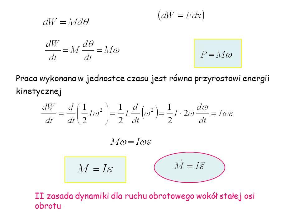 Praca wykonana w jednostce czasu jest równa przyrostowi energii