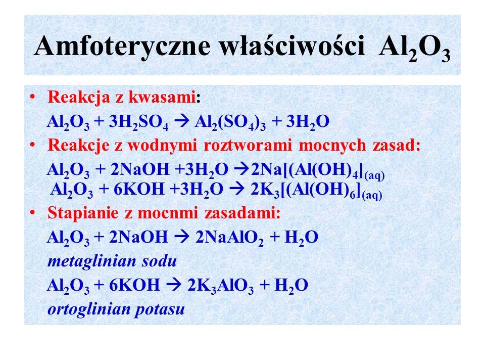 Amfoteryczne właściwości Al2O3