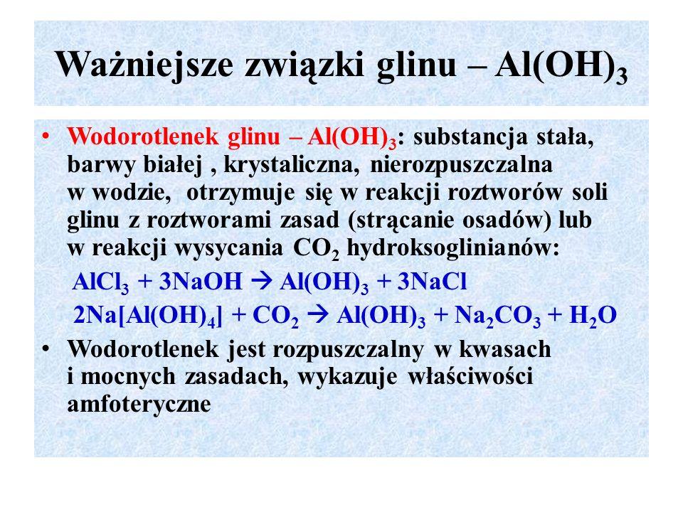 Ważniejsze związki glinu – Al(OH)3