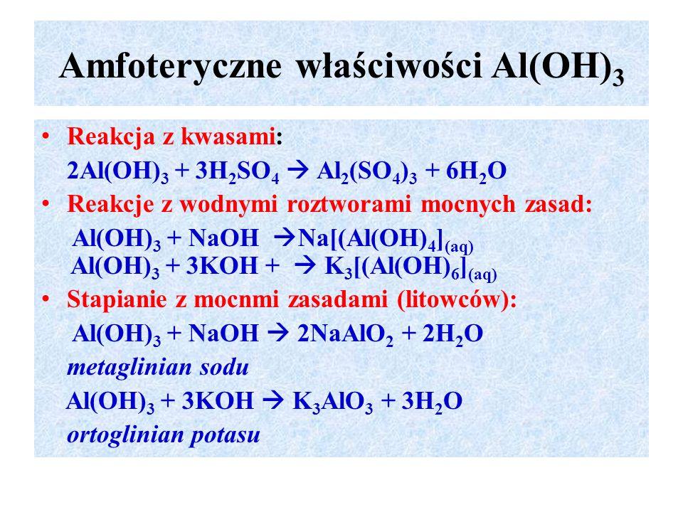 Amfoteryczne właściwości Al(OH)3