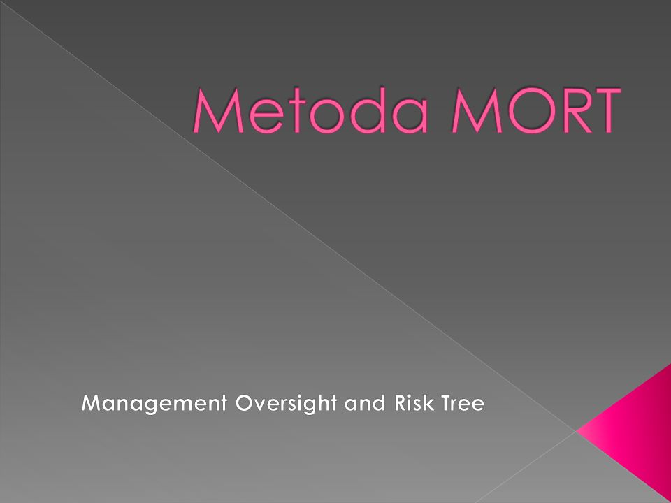 Management Oversight and Risk Tree