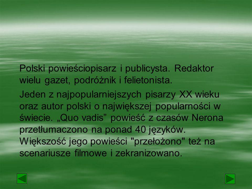 Polski powieściopisarz i publicysta