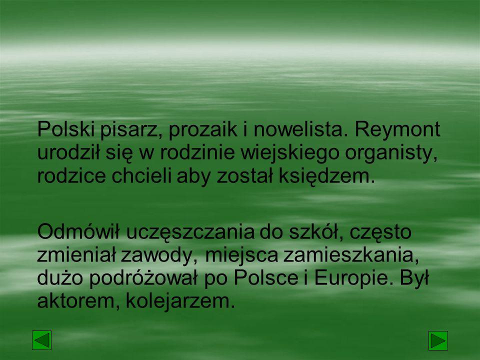 Polski pisarz, prozaik i nowelista