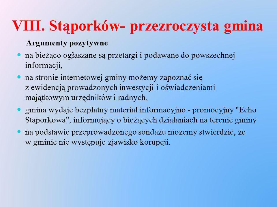 VIII. Stąporków- przezroczysta gmina