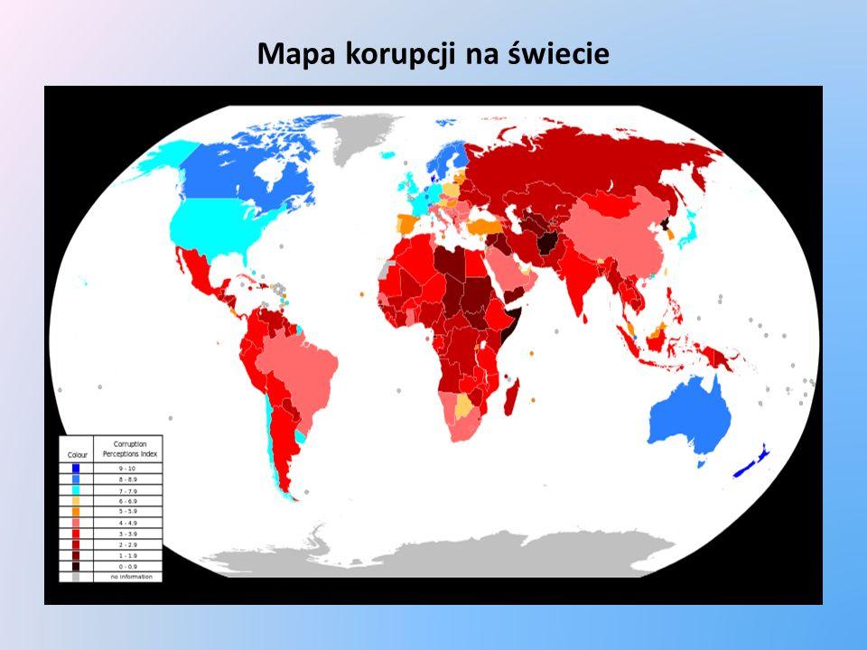 Mapa korupcji na świecie