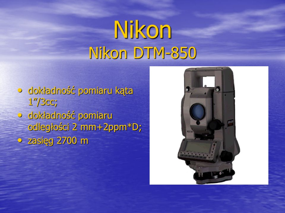 Nikon Nikon DTM-850 dokładność pomiaru kąta 1 /3cc;