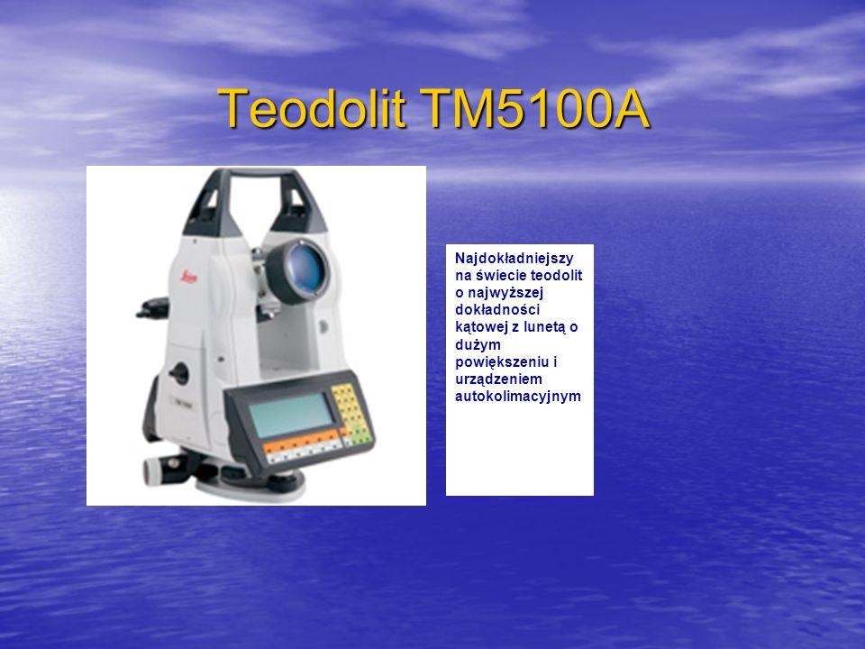 Teodolit TM5100A Najdokładniejszy na świecie teodolit o najwyższej dokładności kątowej z lunetą o dużym powiększeniu i urządzeniem autokolimacyjnym.