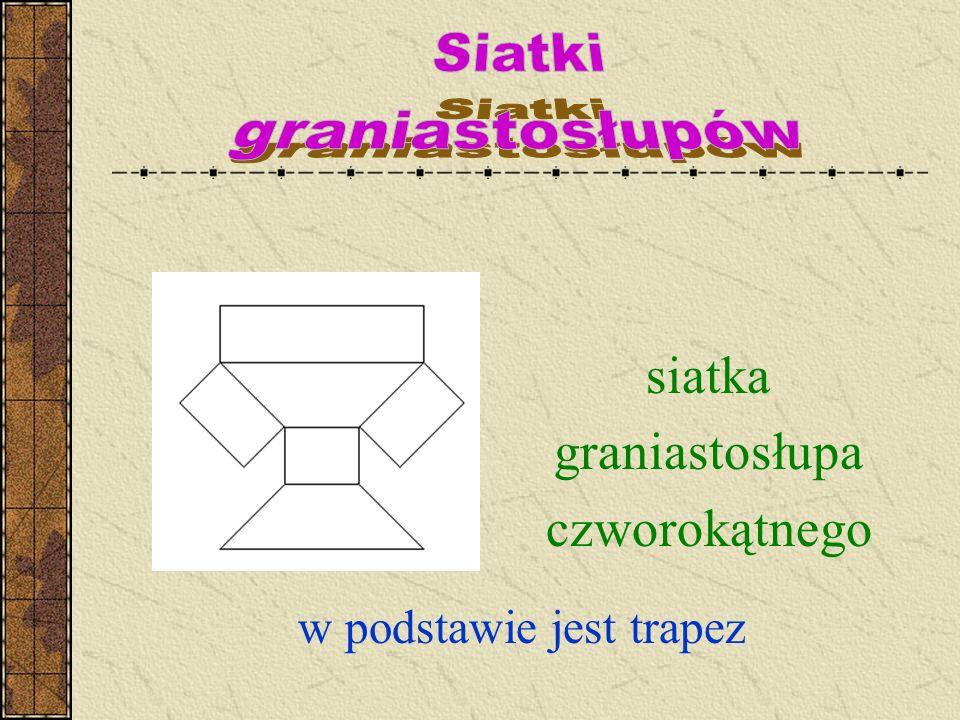 siatka graniastosłupa czworokątnego Siatki graniastosłupów