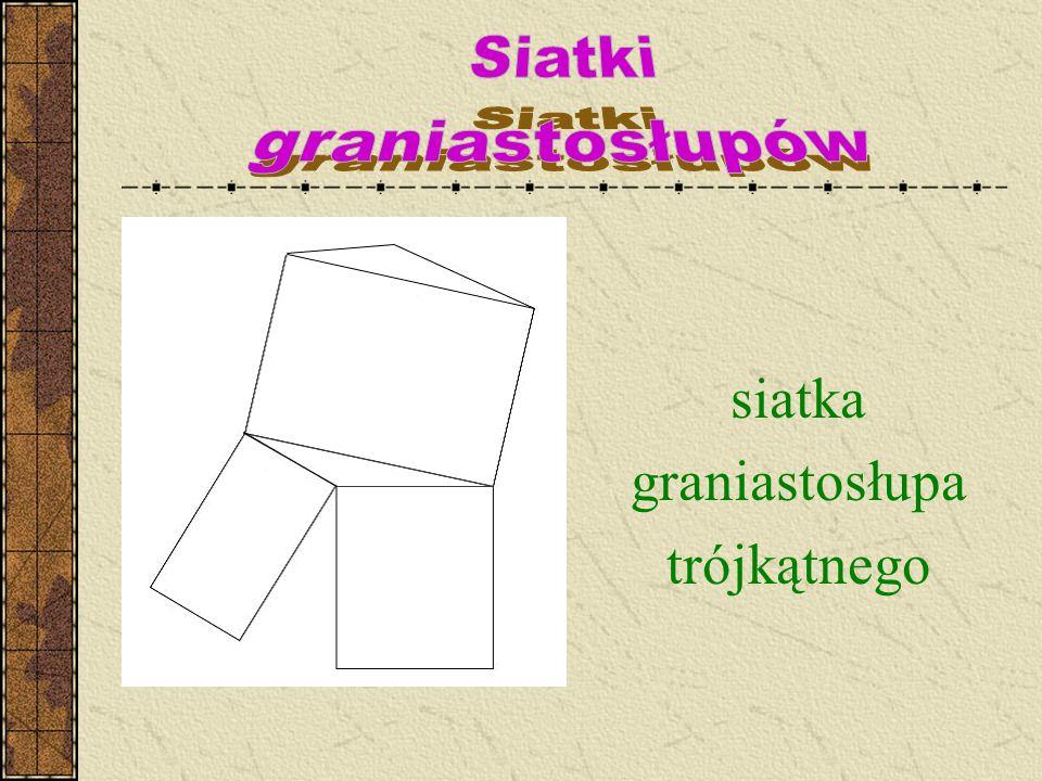 Siatki graniastosłupów siatka graniastosłupa trójkątnego
