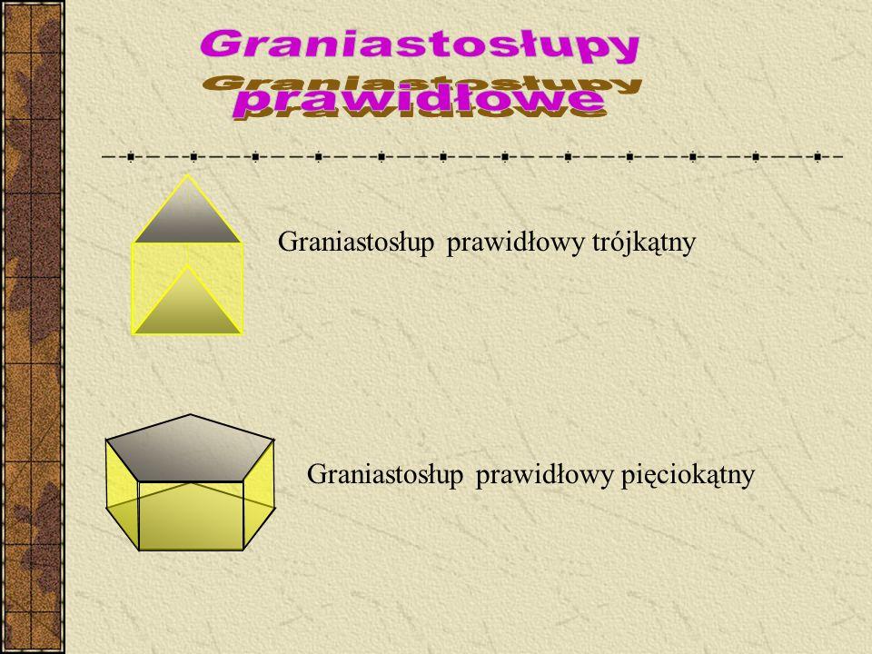 Graniastosłupy prawidłowe Graniastosłup prawidłowy trójkątny