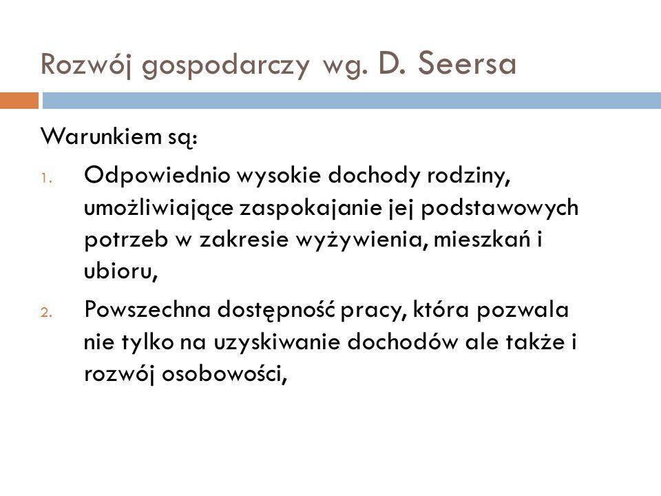 Rozwój gospodarczy wg. D. Seersa