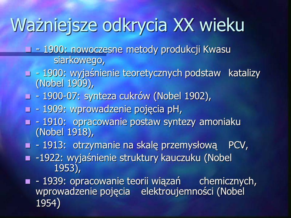 Ważniejsze odkrycia XX wieku