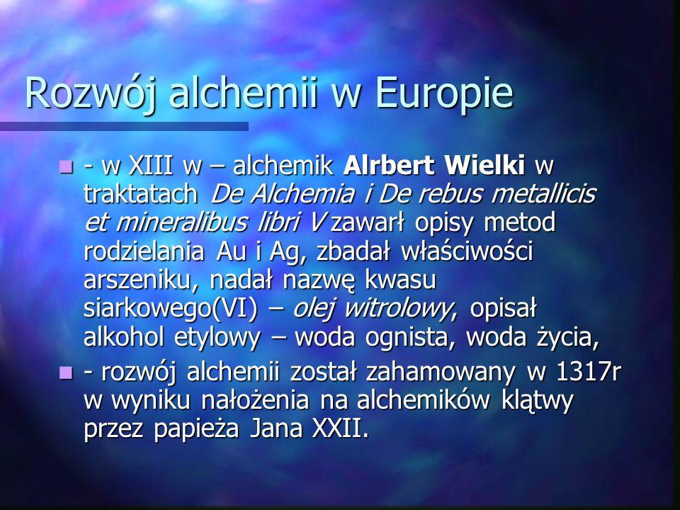 Rozwój alchemii w Europie