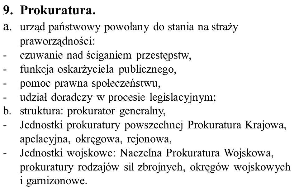 a. urząd państwowy powołany do stania na straży praworządności: