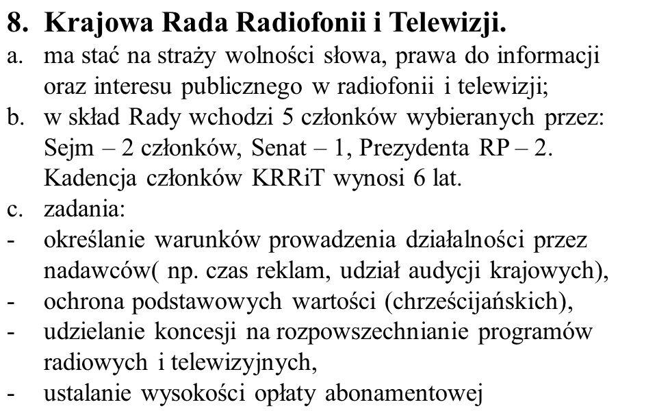 8. Krajowa Rada Radiofonii i Telewizji.