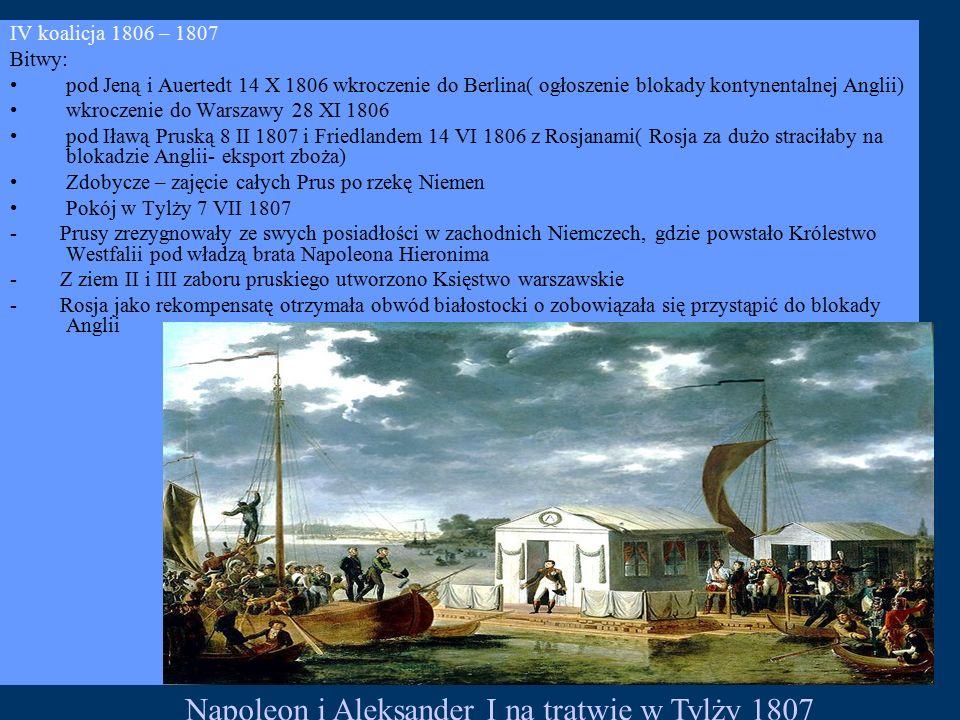 Napoleon i Aleksander I na tratwie w Tylży 1807